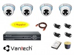 Trọn bộ camera Vantech Combo Đầu ghi 4CH